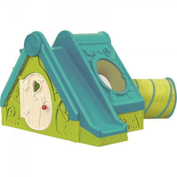 Пластмасова къща с пързалка и тунел Funtivity